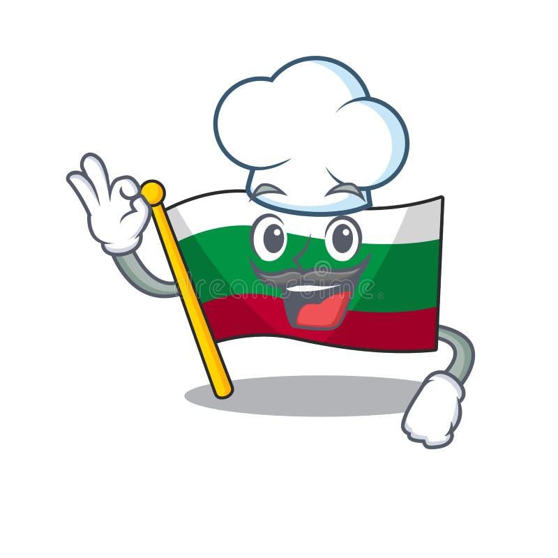 Bandeira de chef búlgara isolada na personagem ilustração stock