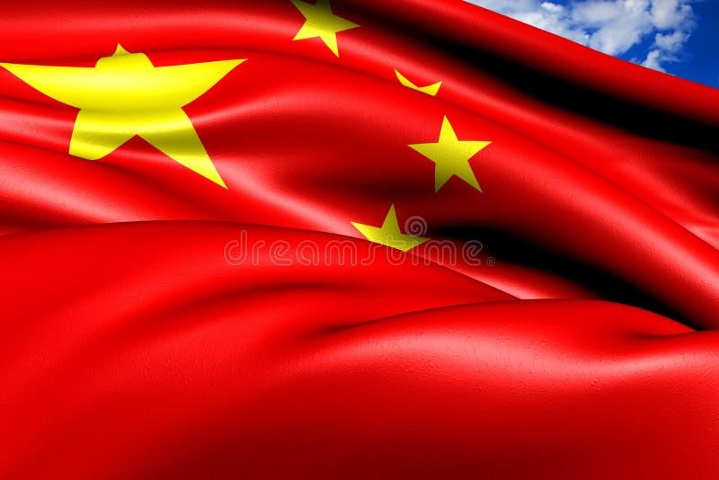 Bandeira de China ilustração do vetor