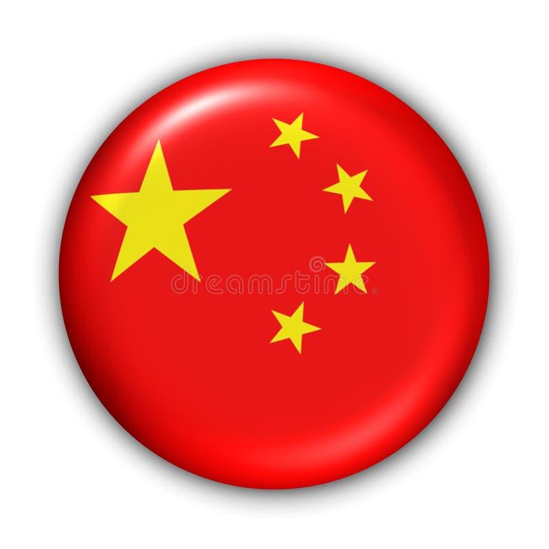 Bandeira de China ilustração stock