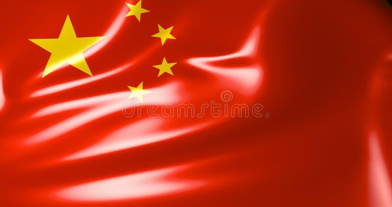 Bandeira de China Bandeira de ondulação da ilustração de China 3d Pequim qualidade 4K ilustração stock