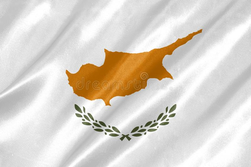 Bandeira de Chipre imagens de stock royalty free