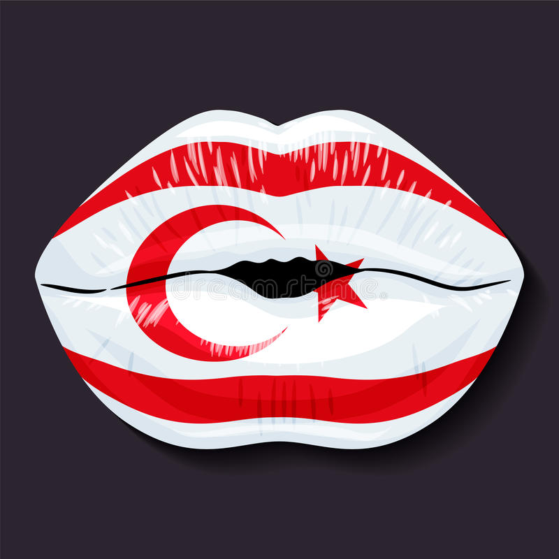 Bandeira de Chipre do norte ilustração royalty free