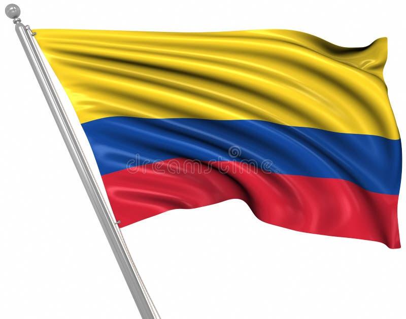 Bandeira de Colômbia ilustração stock