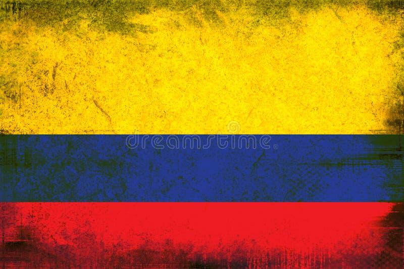 Bandeira de Colômbia ilustração do vetor