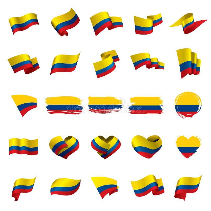 Bandeira de Colômbia, ilustração do vetor ilustração stock