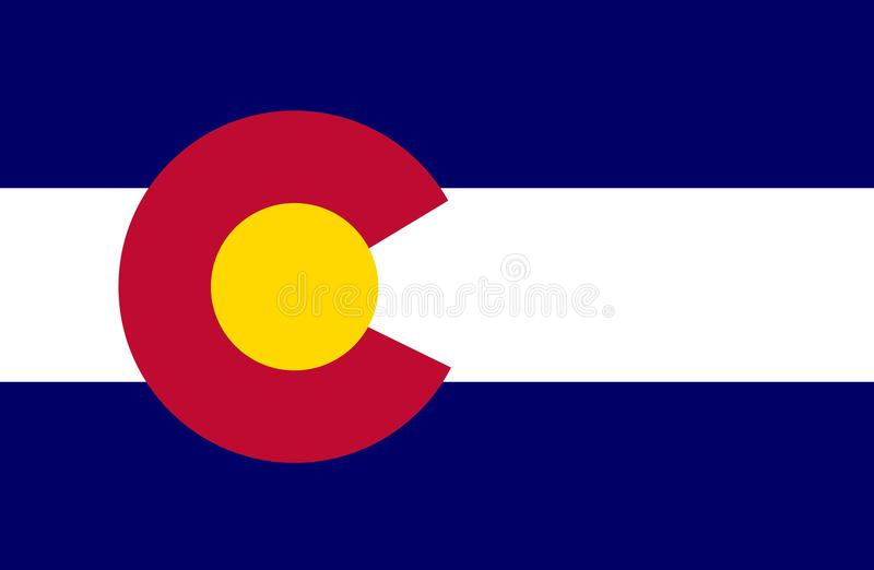 Bandeira de Colorado ilustração royalty free