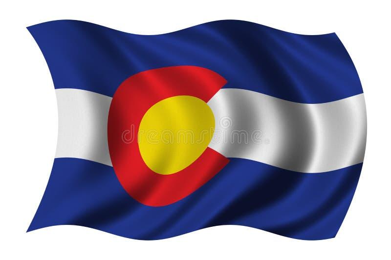 Bandeira de Colorado ilustração do vetor