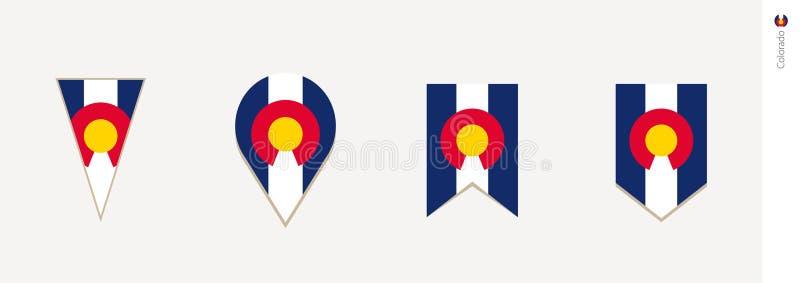 Bandeira de Colorado no projeto vertical, ilustração do vetor ilustração do vetor