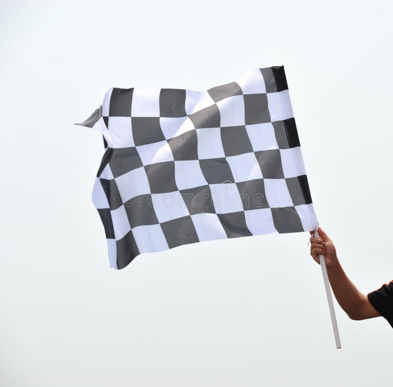 Bandeira de competência Checkered foto de stock