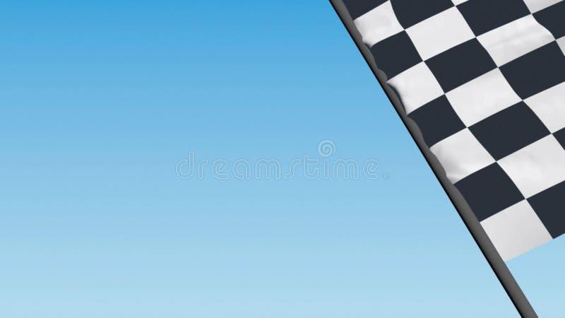 Bandeira de competência Checkered ilustração stock