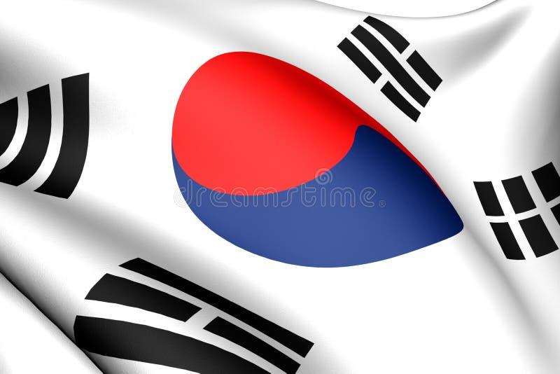 Bandeira de Coreia ilustração royalty free