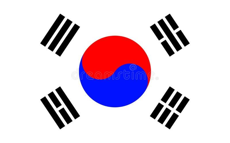 Bandeira de Coreia do Sul ilustração royalty free