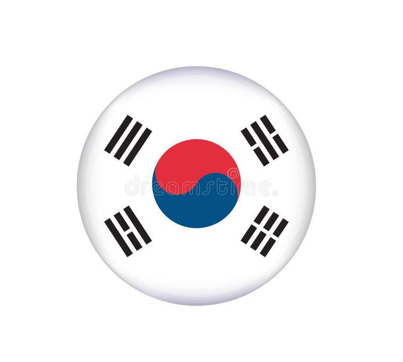 Bandeira de Coreia do Sul feita com cores nacionais coreanas oficiais ilustração stock