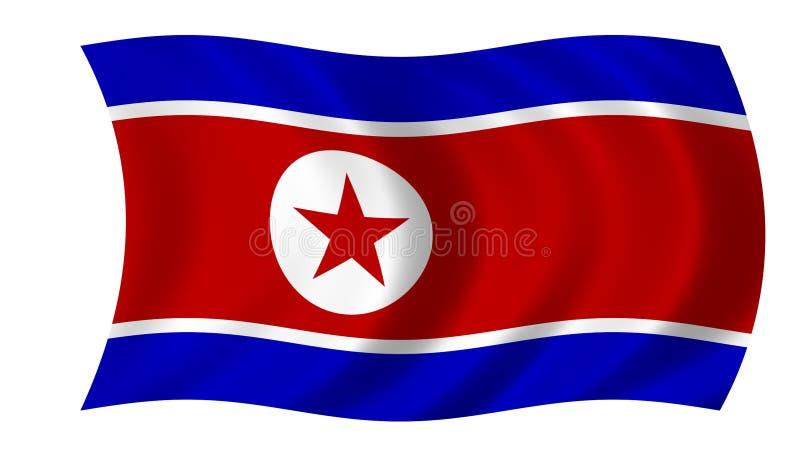 Bandeira de Coreia norte ilustração stock