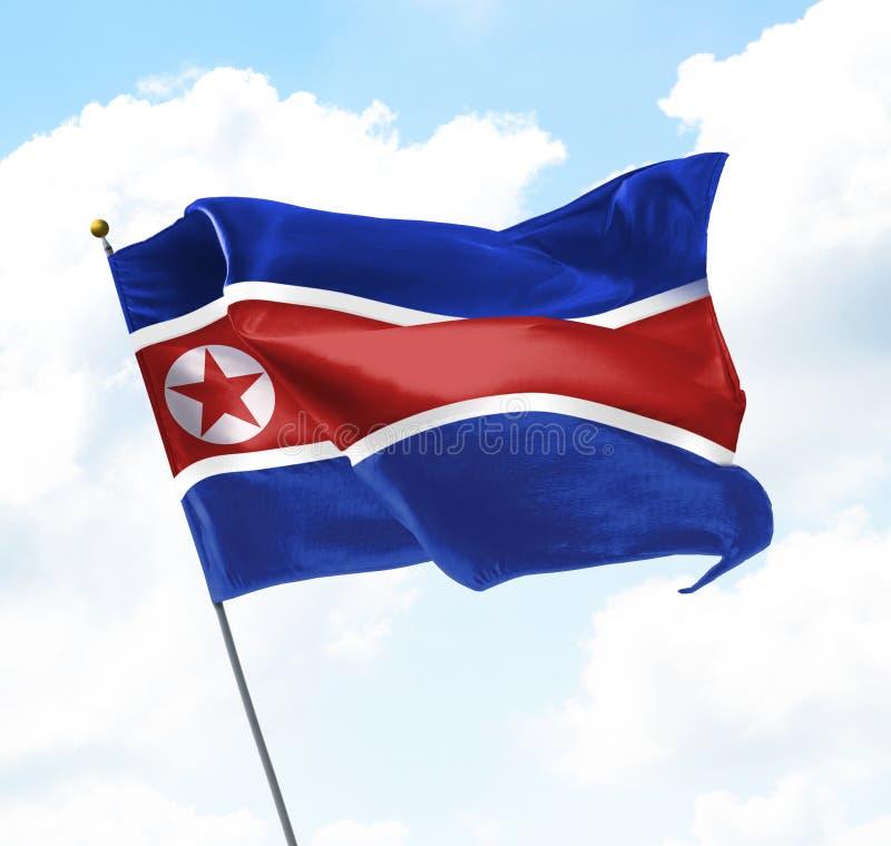 Bandeira de Coreia norte imagens de stock royalty free