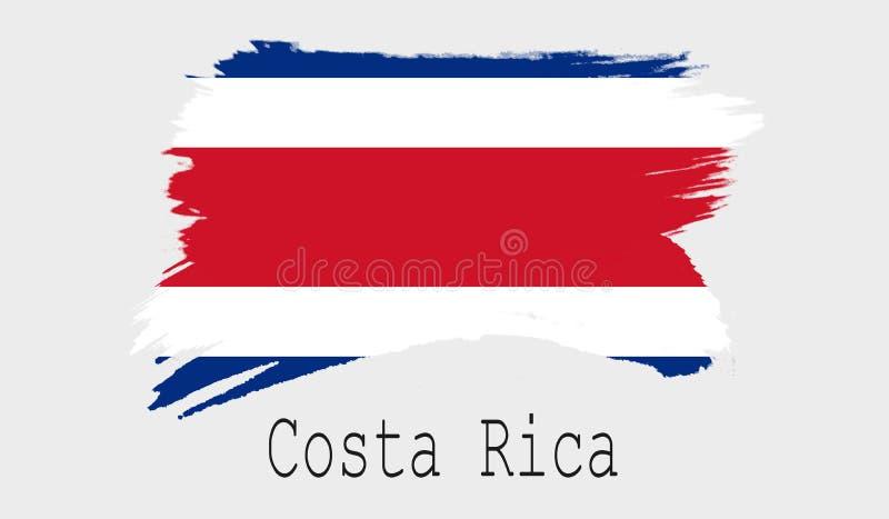 Bandeira de Costa Rica no fundo branco ilustração stock