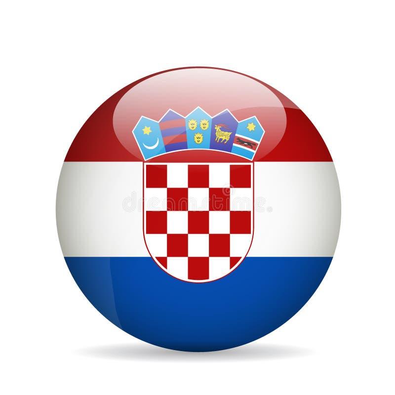 Bandeira de Croatia Ilustração do vetor ilustração stock