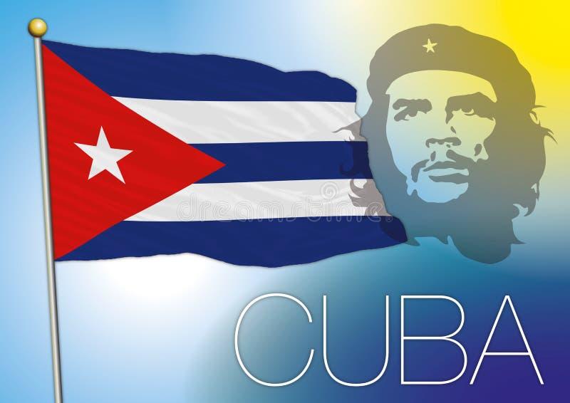 Bandeira de Cuba ilustração royalty free