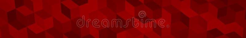 Bandeira de cubos isométricos grandes ilustração stock