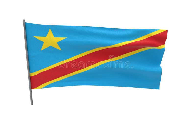 Bandeira de Democratic Republic Of The Congo fotos de stock royalty free