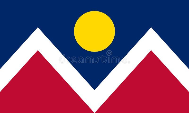 Bandeira de Denver, Colorado Estados Unidos da América ilustração royalty free