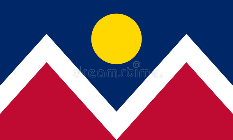 Bandeira de Denver, Colorado Estados Unidos da Am?rica ilustração stock