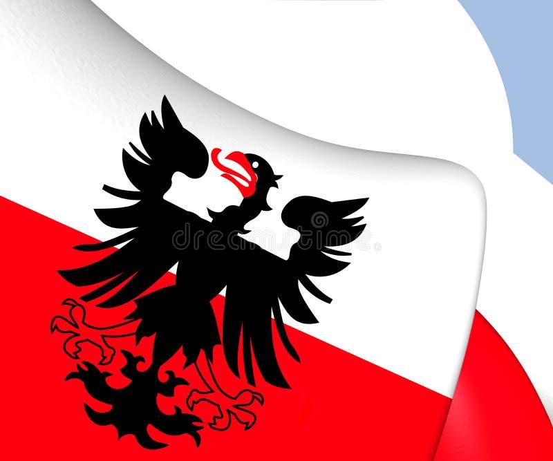 Bandeira de Deventer, Países Baixos ilustração royalty free