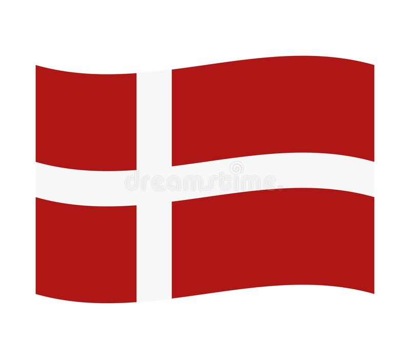 Bandeira de Dinamarca ilustração stock
