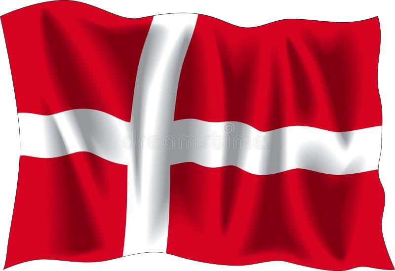 Bandeira De Dinamarca Imagens de Stock Royalty Free