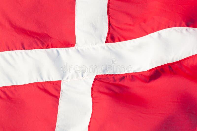 Bandeira de Dinamarca fotografia de stock