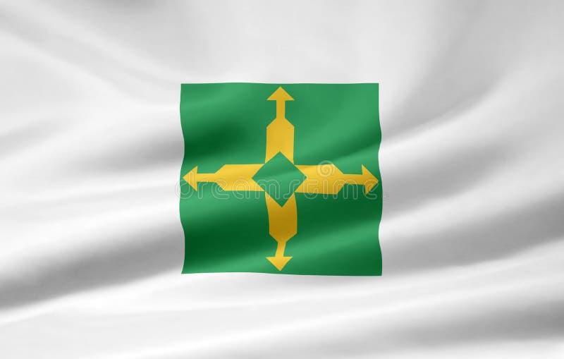 Bandeira de Distrito federal ilustração stock