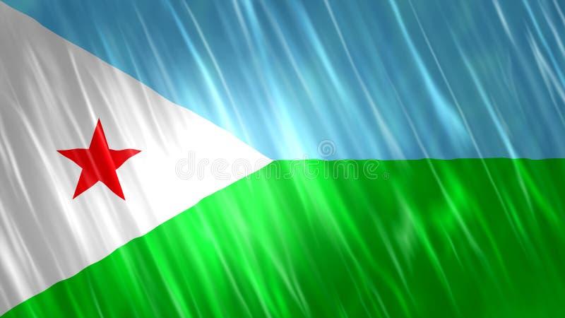 Bandeira de Djibouti fotos de stock