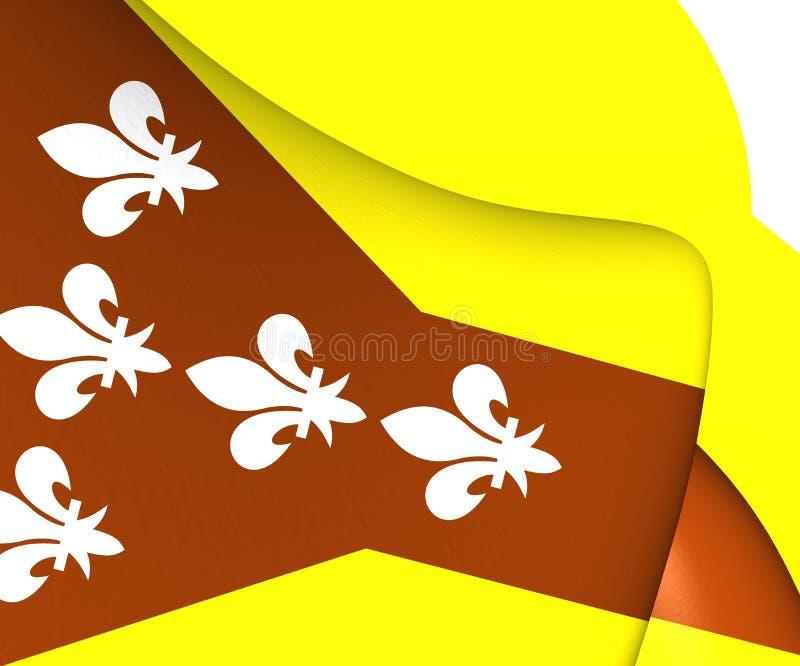 Bandeira de Dorado, Porto Rico ilustração royalty free