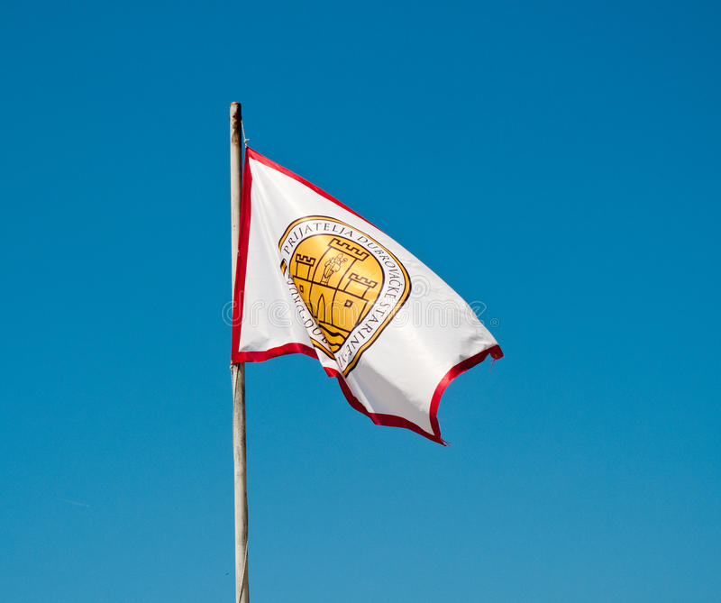 Bandeira de Dubrovnik fotografia de stock royalty free