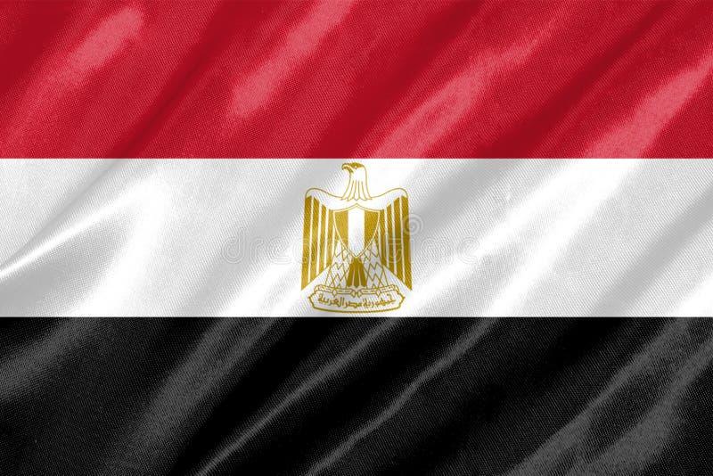 Bandeira de Egipto ilustração stock