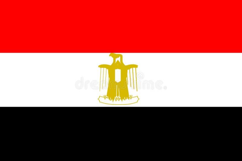 Bandeira de Egipto ilustração do vetor