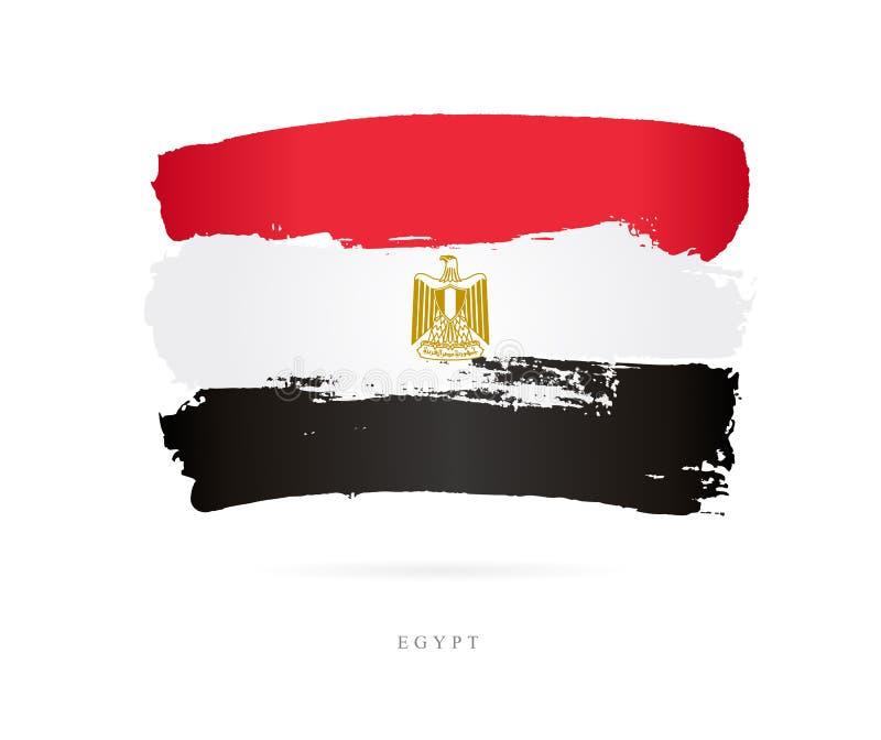 Bandeira de Egipto Conceito abstrato ilustração stock