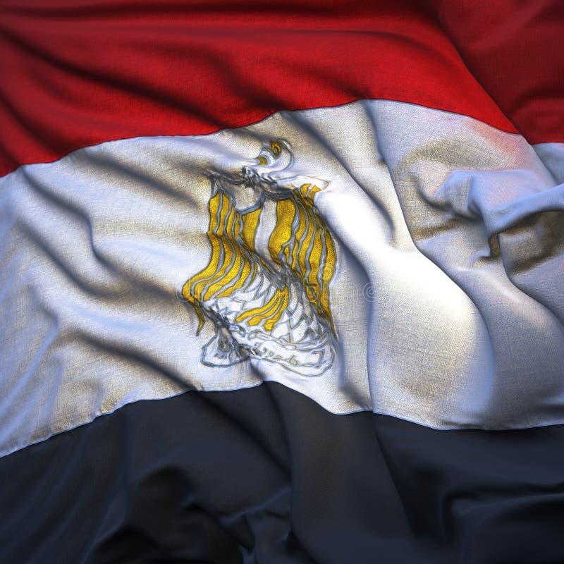 Bandeira de Egipto, vibrando ilustração royalty free