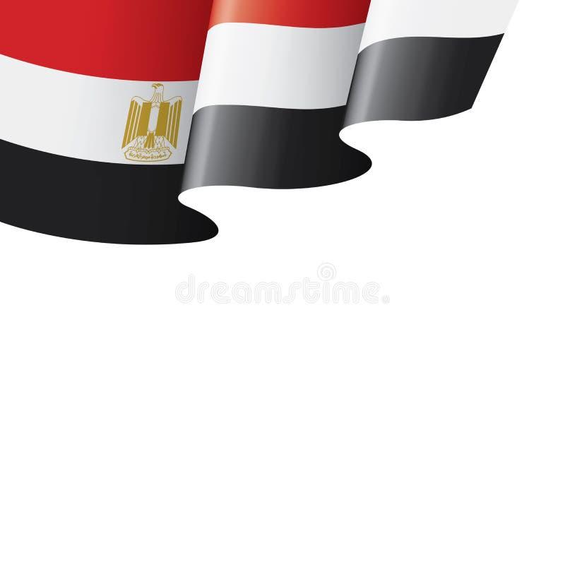 Bandeira de Egito, ilustração do vetor em um fundo branco ilustração stock