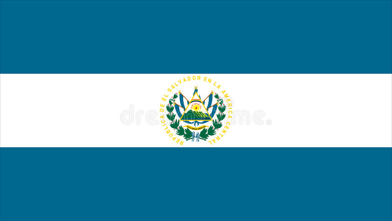 Bandeira de El Salvador ilustração do vetor