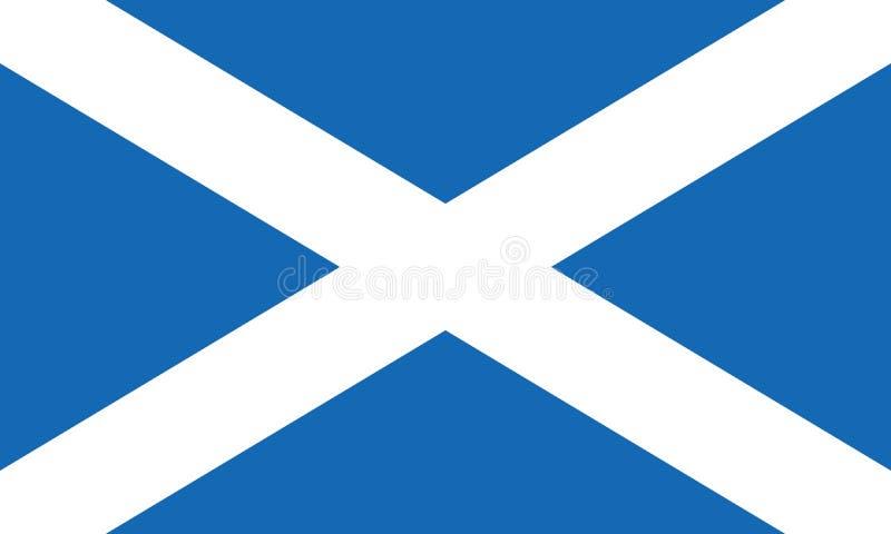 Bandeira de Escócia igualmente conhecida como St Andrews Cross ou o Saltire ilustração do vetor