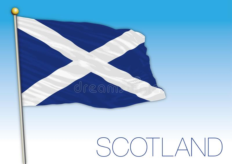Bandeira de Escócia, Reino Unido, ilustração do vetor ilustração do vetor