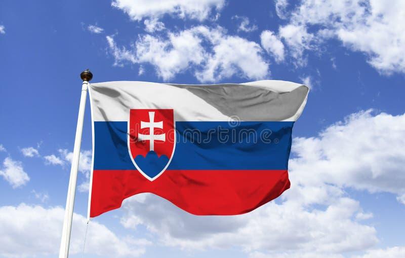 Bandeira de Eslováquia, república eslovaca, modelo foto de stock