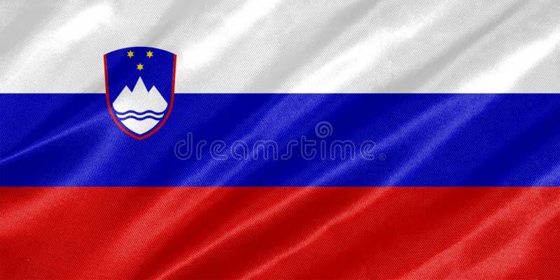 Bandeira de Eslovênia ilustração royalty free
