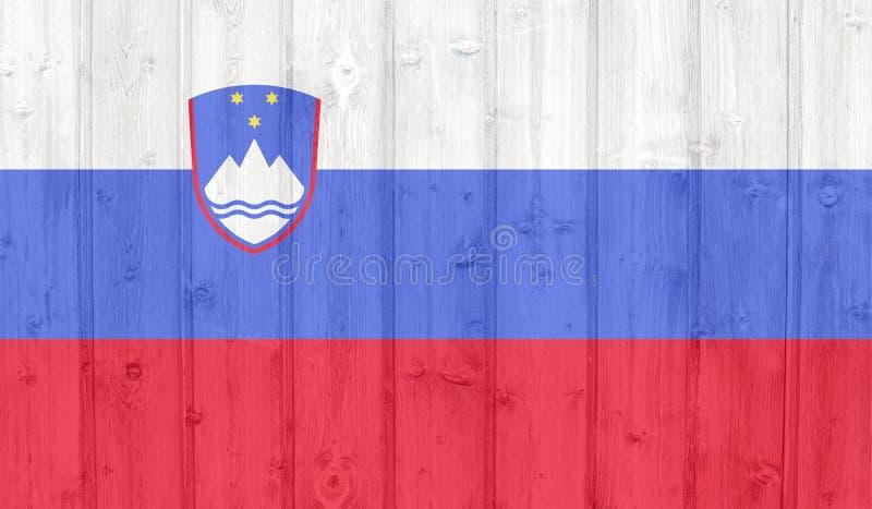 Bandeira de Eslov?nia fotografia de stock