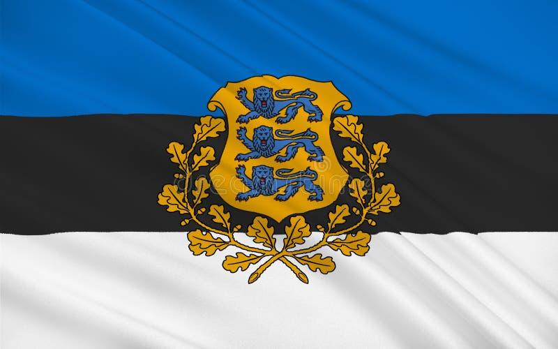 Bandeira de Estónia ilustração stock