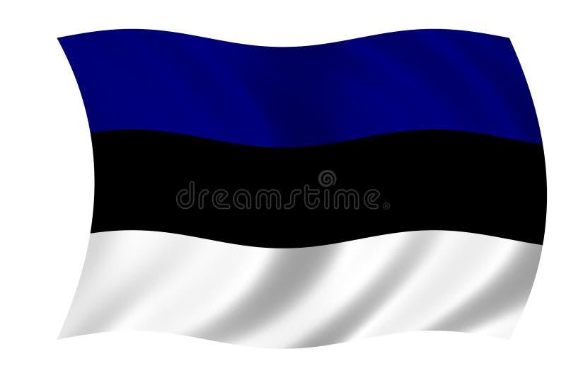 Bandeira de Estónia ilustração royalty free