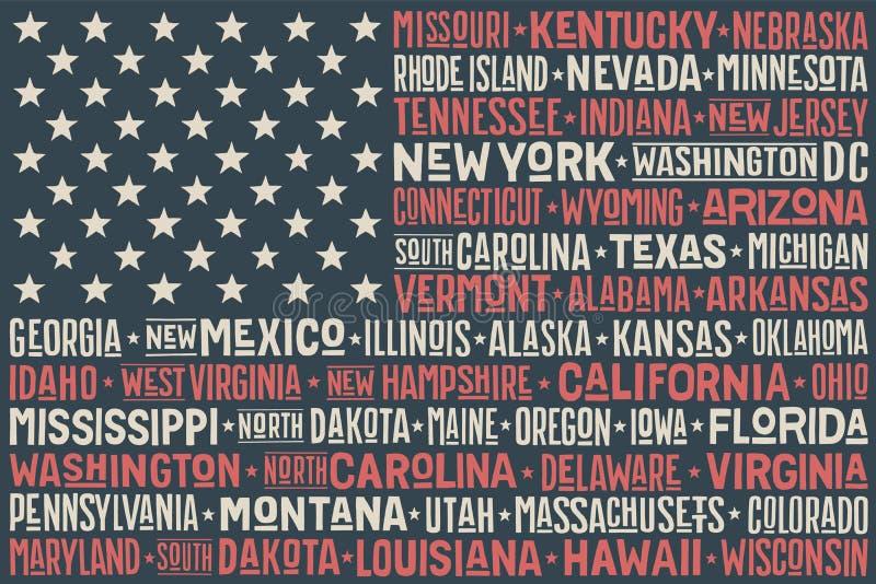 Bandeira de Estados Unidos da América ilustração royalty free