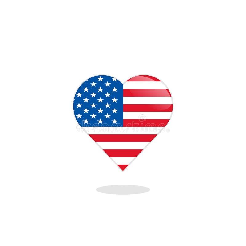Bandeira de Estados Unidos fotografia de stock royalty free