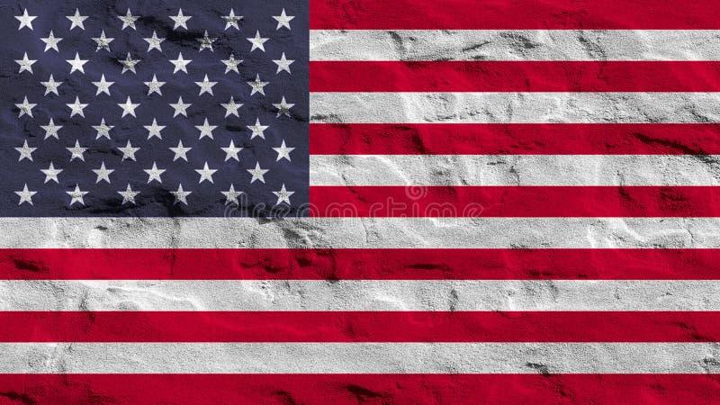 Bandeira de Estados Unidos na areia fotos de stock